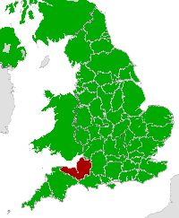 Map of Somerset