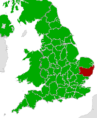 Map of Suffolk